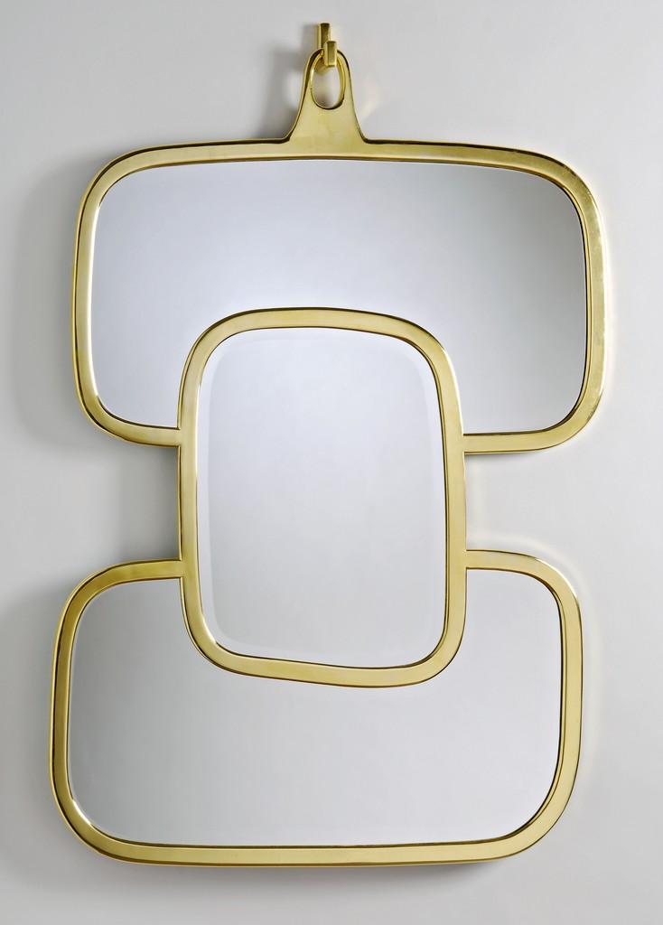Miroir nougat or jaune hubert le gall for Miroir jaune